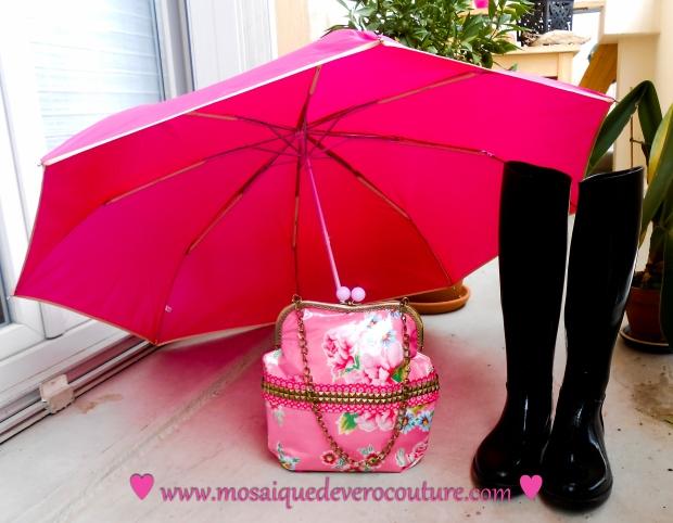 sac à main, mosaique de vero, sac, waterproof, sac à main pour la pluie, pluie, créatrice, créatrice toulousaine, toulouse, hiver, sac à main pour l'hiver,