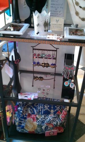 bijoux de Madame la Truite et mon grand sac Mosaique De VerO !