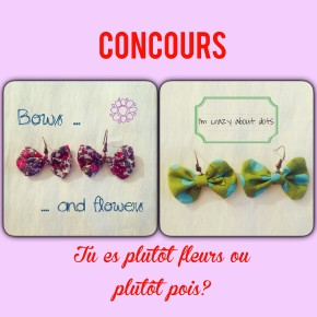 CONCOURS, mosaique de vero, mosaiquedevero, boucles d'oreilles, fleurs, pois,
