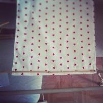 mosaique de vero, couture, rideaux de cuisine, panneaux de cuisine, DIY, faire soi-même ses rideaux