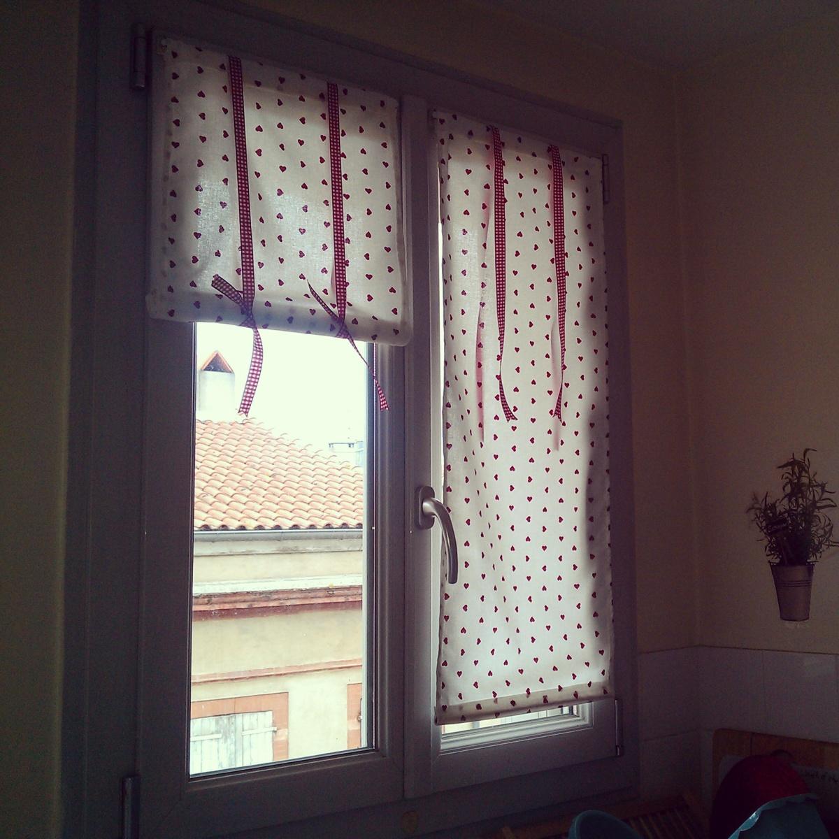 Diy rideaux panneaux pour pour la cuisine mosaique de vero - Rideaux pour cuisine design ...
